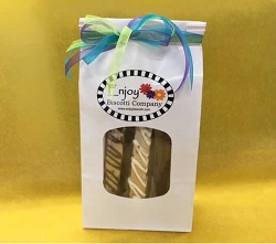 Enjoy Biscotti Six Pack - 6 Large Gourmet Biscotti in a Ribbon Tied Gift Bag