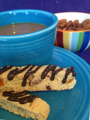 Amaretto Biscotti - Double Chunk with Chocolate & Apricots - 6 pk