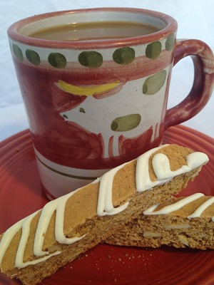 Gingerbread Almond Biscotti with White Chocolate - 6 pk
