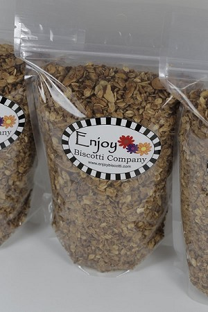 Almond Granola by Enjoy Biscotti Company - 16 oz.  - Organic Oats, No Preservatives